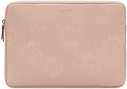 kate spade new york Slim Sleeve for 13 Reverse Hollyhock Pale Vellum Gold Zipper Gold Printed product image