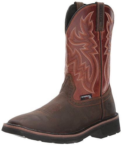 Wolverine Men's Rancher Wpf Soft Toe Wellington Work Boot,Rust/Brown,10.5 D US