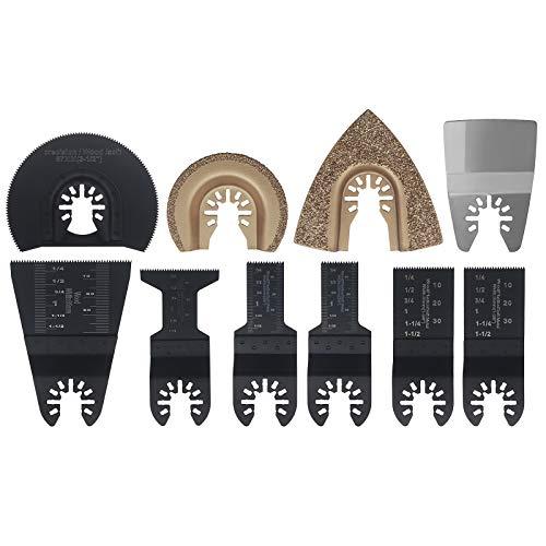 10 Stück Sägeblätter Oszillierwerkzeug Zubehör Multi-Tool Schnellspanner Passend für Oszillierende Werkzeuge Zubehör