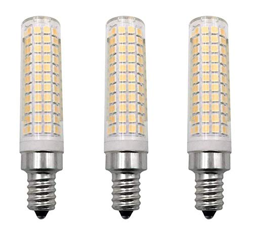 JKLcom E12 LED Bulb Dimmable 10W(Equivalent to 100W Halogen Lamp Replacement)E12 Candelabra Base LED Corn Light Bulbs for Chandelier Indoor Decorative Lighting,136 LED 2835 SMD,Dimmable,Warm White