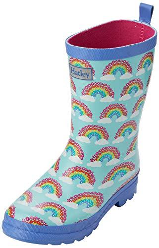 Hatley Mädchen Printed Wellington Rain Boots Gummistiefel, Blau (Magical Rainbows 400), 35 EU