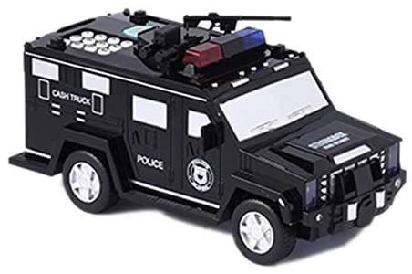 Detazhi Moneda de Coches Caja de Dinero Hucha Digital de niños de Juguete Ahorro de Cajas de electrónica Tirelire Enfant Niños Efectivo de Seguridad Camión Negro (Color : Black)