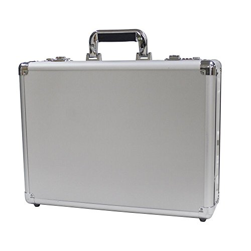 Bory Aluminum Hard Case Briefcase Silver Toolbox Professional Carrying Case Aluminum Flight Cases Portable Equipment Tool Case