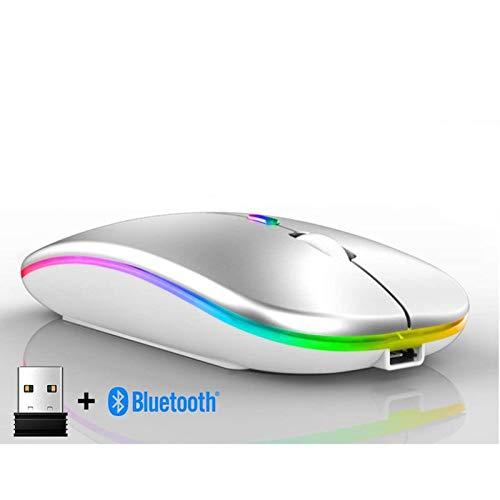 Vqxrhf A est Une Souris sans Fil Rechargeable ultramince créative, Un téléphone Portable Bluetooth 5.0 Dualmode, Une Souris d'ordinateur, Un Cadeau Portable Silencieux et Mignon