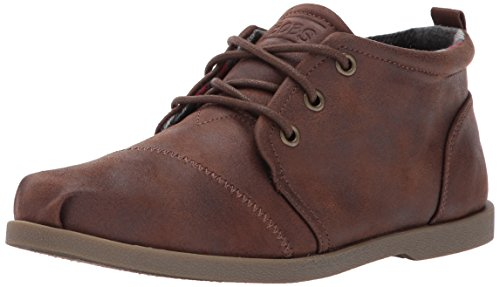 Skechers BOBS Women's Chill Luxe-Drifting Flat, Brown, 8 M US