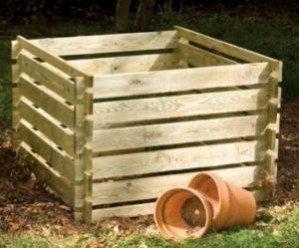 Lacewing 1575 Liter Komposter aus Holz, 70cm x 150cm x 150cm