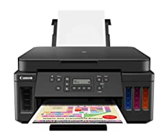 The PIXMA G6020 MegaTank All-In-One Printer gives you an exceptional value with an ink savings of $1,175 from the full set of ink bottles included in the box plus you get two additional bonus black bottles for even more savings.(1) Tired of replacing...