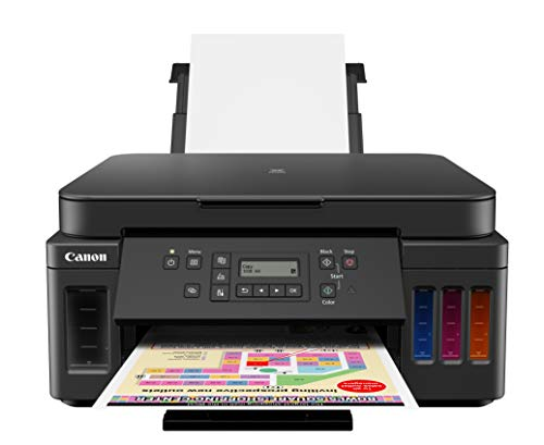 Canon PIXMA G6020 All-In-One Supertank Wireless (Megatank) Printer, Copier and Scan with Mobile Printing, Black, Works with Alexa