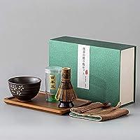 日本の抹茶泡立て器完全なセット、竹のアクセサリー、そして道具、竹の泡立て器スプーンと武装器,A