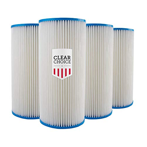 Clear Choice Sediment Water Filter 30 Micron 10 x 4.50 Water Filter Cartridge Replacement 10 inch RO System 155101-43 R30-BB, WHKF-WHPLBB, 4-Pk
