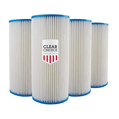 Clear Choice - Filtro de agua para sedimentos de 30 micras, 10 x 4,50 cartucho de repuesto de 10 pulgadas RO System 155101-43 R30-BB, WHKF-WHPLBB, 4 unidades
