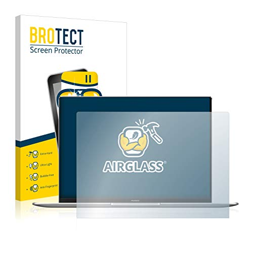 BROTECT Panzerglas Schutzfolie kompatibel mit Huawei MateBook X Pro 2020 - AirGlass, extrem Kratzfest, Anti-Fingerprint, Ultra-transparent