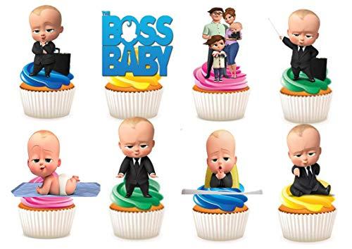 Kuchendekoration aus Esspapier, Motiv: The Boss-Baby, 30 Stück