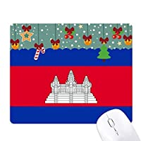cambodianationalアジアの国の旗 ゲーム用スライドゴムのマウスパッドクリスマス