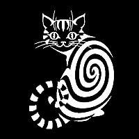 車のラベル 猫の漫画のアップリケモードパーソナリティの装飾アップリケPVC 10進BLAID /白、18cm * 13cm (Color : Silver)