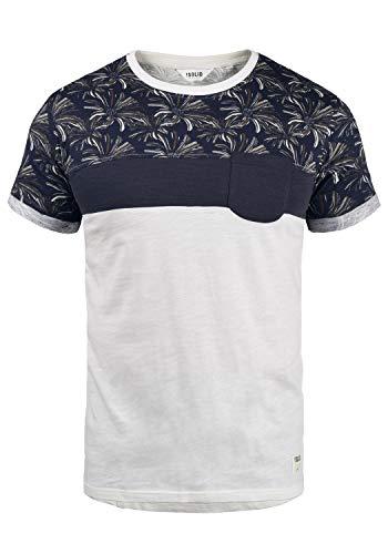 !Solid Florian Herren T-Shirt Kurzarm Shirt Rundhals-Ausschnitt aus 100% Baumwolle Meliert, Größe:L, Farbe:Insignia Blue (1991)
