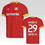 JAKO Bayer 04 Leverkusen Away Auswärtstrikot 2020/21 Erwachsenen mit Spielerflock Havertz Nr. 29 (S)
