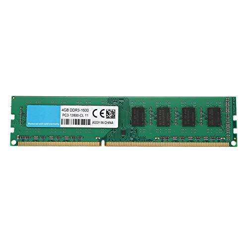 Cavis Escritorio DDR3 DIMM 4GB 1600Mhz Memoria RAM PC3-12800 Memoria Dedicada PartíCula de Doble Cara 1.5V 240Pin Memoria Sin BúFer Sin ECC para