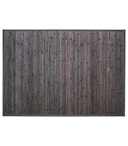 Tapis latte bambou 120x170cm gris foncé