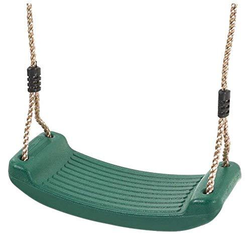 HYISHION Asiento giratorio para niños, silla colgante de plástico para niños, cuerdas ajustables, equipo de atracciones para jardín, patio, interior y exterior (color verde claro), color verde