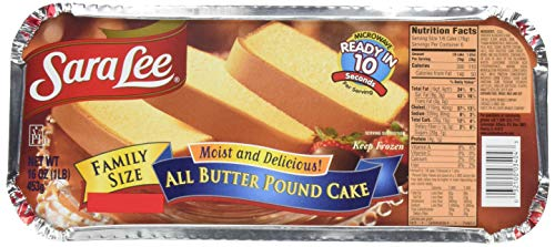 Sara Lee, Family Size Pound Cake, 16 oz (Frozen)