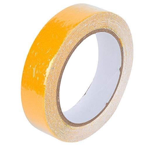 Cinta de Puesta a Tierra de Arena de sílice de PVC Cinta Duradera Conveniente adherencia Fuerte Resistente al Desgaste 2 uds 25mm x 5 m para Hotel(Yellow)
