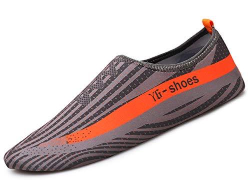 Zapatos ligeros. Te gustarán los zapatos ligeros de playa. Hecho de materiales ligeros, es ligero, suave y delicado, y se puede doblar a voluntad para hacer que los zapatos sean más duraderos. Adecuado para parques acuáticos, aeróbicos acuáticos, pla...