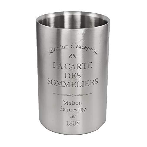 DRULINE Weinkühler aus Edelstahl La Carte des Sommeliers 12 x 18 cm