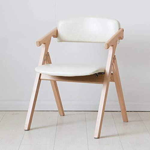 XZGang Silla de madera sólida de comedor, plegable uso en el hogar Sillón Balcón Tumbona portátil tamaño de respaldo Silla de oficina: 53 * 56.5 * 43.5cm Crear vida simple ( Color : #12 )