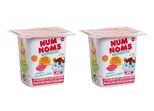 Set of 2 Num Noms Blind Bags Series 1 (Lipgloss, Collector Poster) by Num Noms
