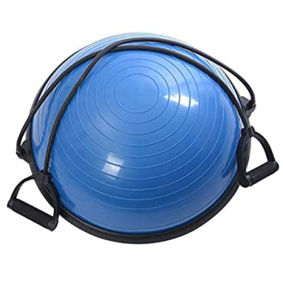 Yoga ball Balance Hemisphere PVC & ABS for Gym Office Home Blue Massage Effect Scientific Way Promote the Blood Circulation Fitness Durable and Non-toxic Training the balance ability of body for All P