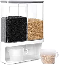 Conworld Rice Dispenser Container Wall Mounted Dry Food Storage Container(hold 7 lbs rice).Suitable for Millet, Black Rice, Pet Food, Coffee Beans, Laundry Scent Beads, Detergent Powder