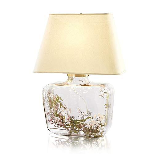 JJZXD Florero lámpara de Mesa de Cristal Dormitorio romántico luz de la Novedad de la Sala, lámparas de Mesa, lámparas de Escritorio