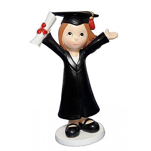 Figura de Pastel Niña Graduada - Regalos para Graduaciones, Graduados