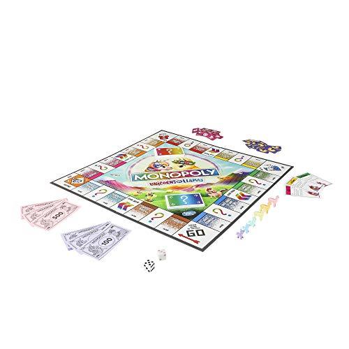 Monopoly Unicorns vs. Llamas Jeu de société pour les 8 ans et plus; - 1