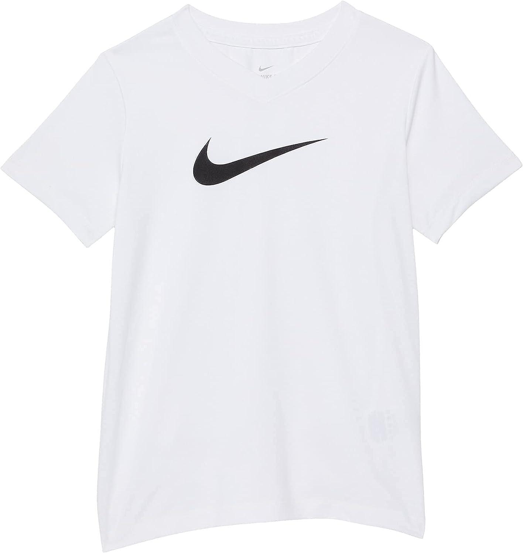 Nike girls Dry Legend Swoosh V-neck Tee (Little Kids/Big Kids)