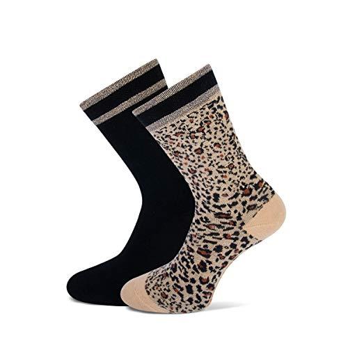 marcmarcs Damen Socken-Bella (39/42, Beige Black)