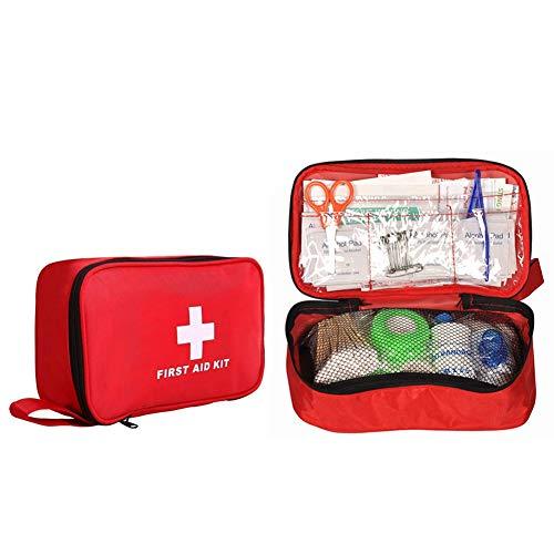 救急セット 30種類180セット 携帯用救急箱 ファーストエイドキット ポイズンリムーバー 手提げ