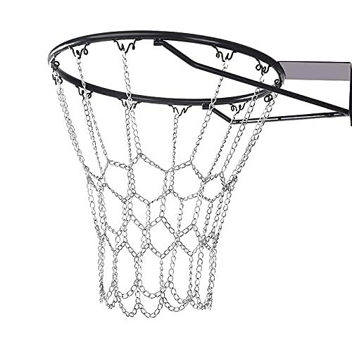 Rete Da Basket In Metallo,Rete Da Basket Durevole, Rete Da Pallacanestro Zincata,Ultra Resistente,...