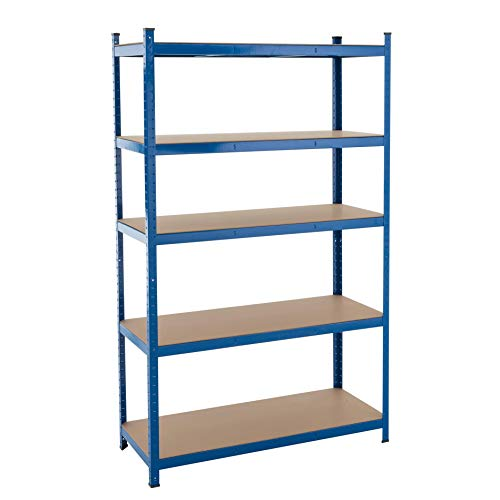 Storage rek steekrek heavy duty rek plank gegalvaniseerd werkplaatsstelling werkbank plank blauw 200x120x50cm | 875kg