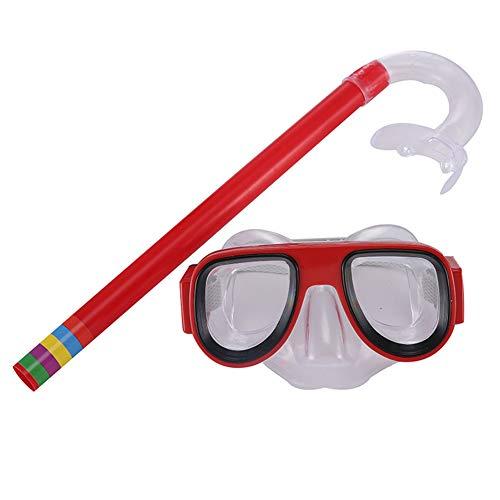Fuyamp Kinder Schnorchel-Set Junior Schnorchelausrüstung Kinder Schnorcheln Schnorcheln Gläser Set Einfaches Atmen Schnorcheln Ausrüstung für Jungen und Mädchen, 0, rot