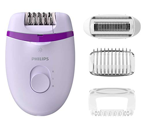 Philips BRE275/00 Satinelle Essential Epilatore Elettrico Compatto, 4 Accessori