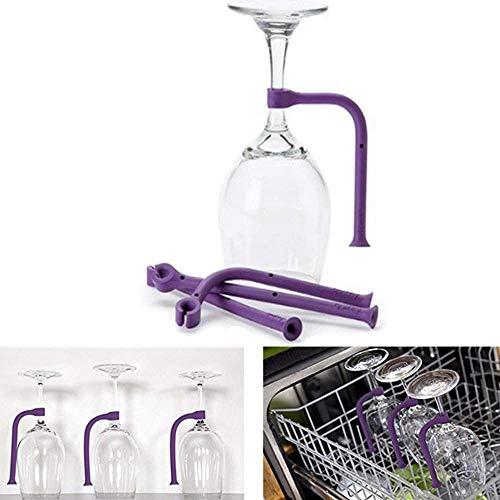 Wine Glass Dishwasher Holder Stemware Saver Flexible Dishwasher Attachment 4 pcs