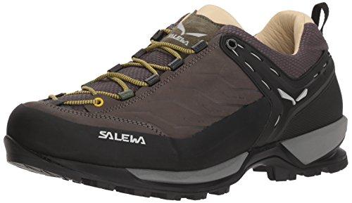 Salewa JR Mountain Trainer Waterproof, Chaussures de trekking et de randonnée Mixte enfant, Gris (Quiet Shade/Hot Coral), 34 EU