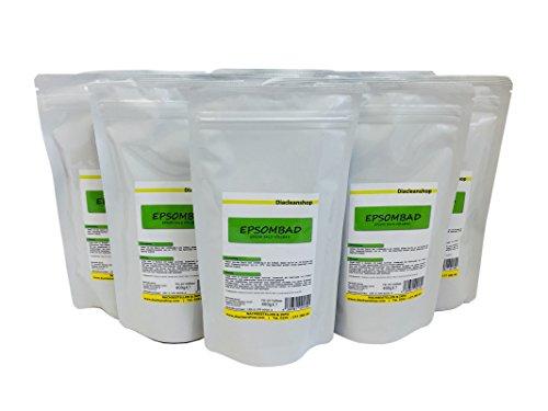 Epsombad 10er Pack - Das Epsom Salz Vollbad (10 x 400g) Bittersalz im praktischen Tütchen