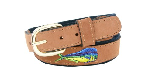 ZEP-PRO Men's Tan Leather Embroider…