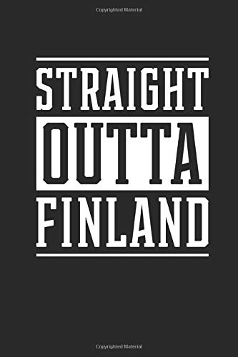 Straight Outta Finland: Graph Paper Notebook (6