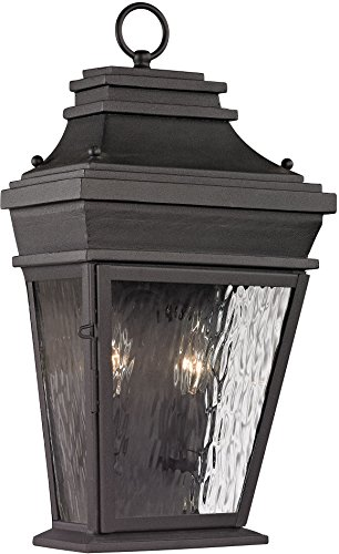 Elk Lighting 47052/2 Forged Provincial Collection 2 Light Outdoor Sconce, Charcoal