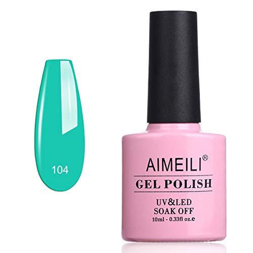AIMEILI Smalto Semipermente per Manicure Smalti per Unghie in Gel Soak Off UV LED - Cymbidium ensifolium (104) 10ml