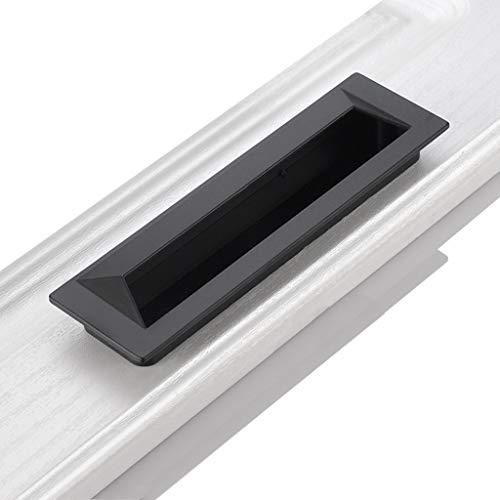 HBLZG Gabinete cajón de la Puerta manija Embedded Invisible manija del gabinete Armario Moderno Minimalista de Alta Extremo del Mango, o 15cm o11.8cm (Color : Black, Size : Large)